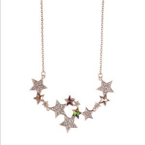 Rose Gold with Crystals Star Necklace ⭐️